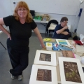 Cath and her prints