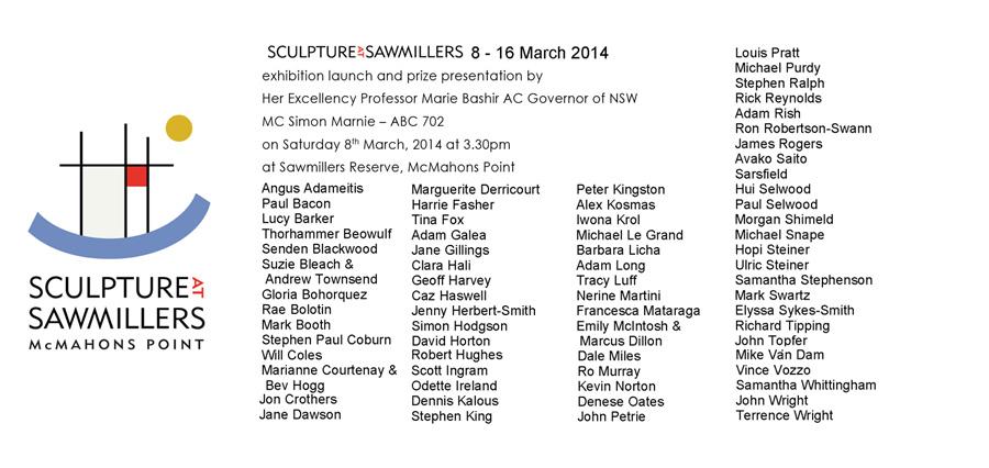 Sculpture at Sawmillers 2014