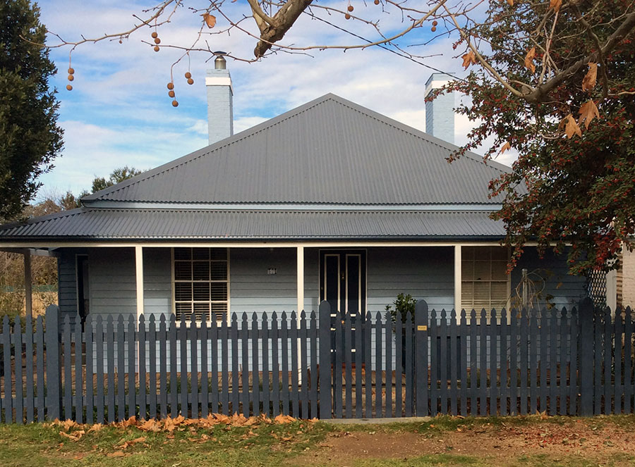 The cottage in Braidwood