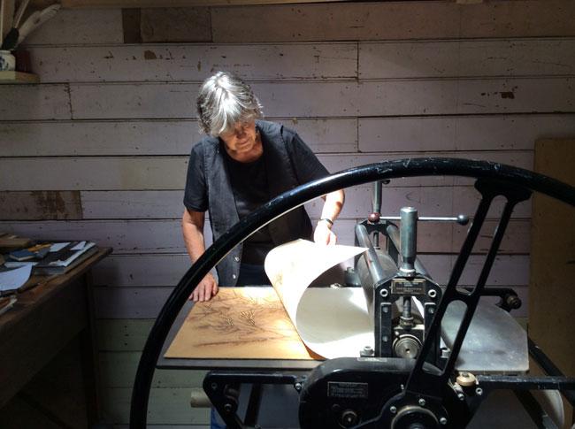 Marianne Courtenay artist printmaker